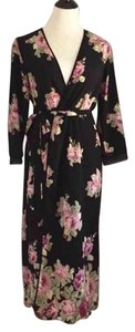 Black and pink Maxi Dress by Oscar de la Renta