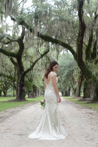 Modern Trousseau Sage Gown Wedding Dress