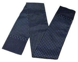 Classic Navy Blue Narrow Scarf