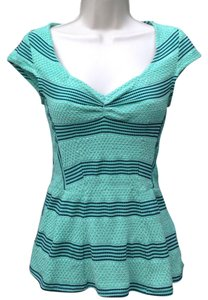 Anthropologie Top Green striped