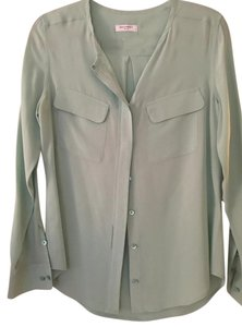 Equipment Silk Silk Top Mint Green