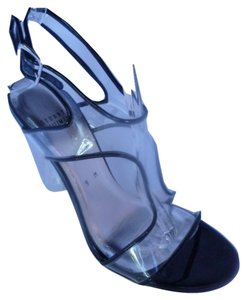 Stuart Weitzman Leather Black/Clear Sandals