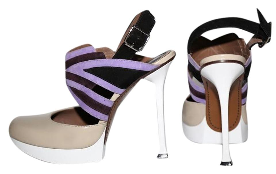 Multicolor Platforms Suede Marni Heels Leather 0SXxBwgq