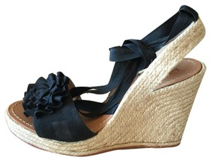 Kate Spade Black Wedges