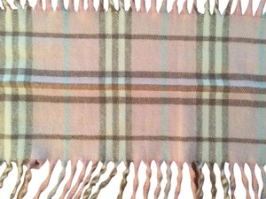 Burberry Pink Burberry Nova Check Cashmere Scarf with Fringe