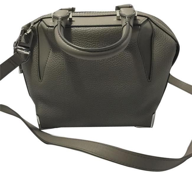 Item - Mini Emile In Pebbled with Silver Gray Leather Satchel