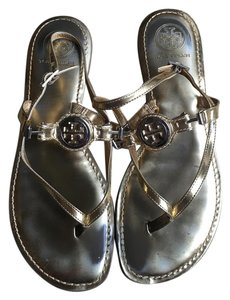 Tory Burch Leather Thong Sandal Gold Sandals