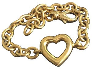 Tiffany & Co. TIFFANY & CO - 18K GOLD - HEART CHARM BRACELET - 7