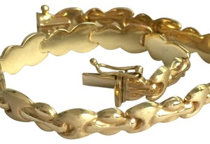 Other SOLID 14K GOLD - BRUSHED LINK BRACELET - 7