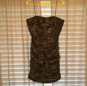 Mark & James by Badgley Mischka And Metallic Gold Strapless Dress