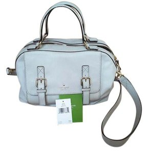 Kate Spade Leather Satchel in Light smoke grey
