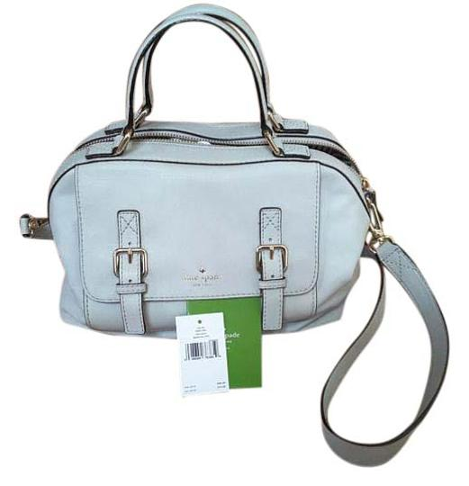 Street Light Theory: Kate Spade Allen Street Light Smoke Grey Leather Satchel