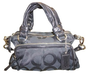 Coach Leather Handles Satchel in Black