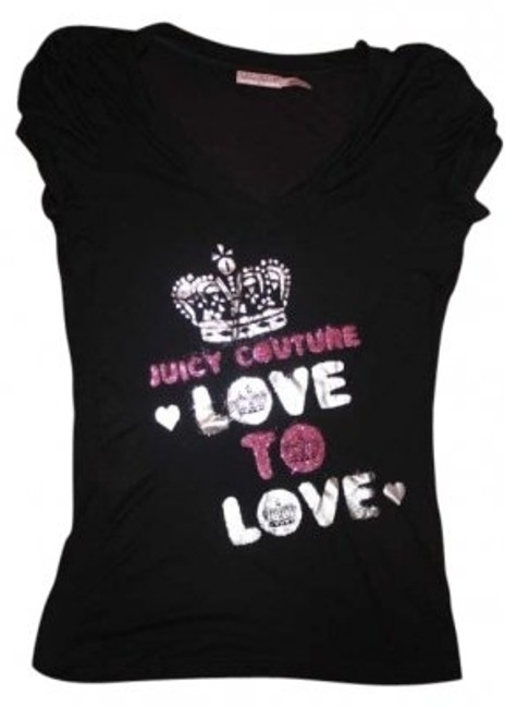Preload https://img-static.tradesy.com/item/186228/juicy-couture-black-glitter-love-to-love-tee-shirt-size-4-s-0-0-650-650.jpg