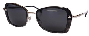 Chanel CHANEL Sunglasses Silver Black Gray Inserts with CHANEL Case