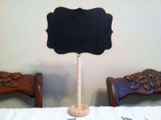 Blonde Wood/Chalkboard Mini Stands Reception Decoration
