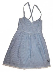 Abercrombie & Fitch short dress Blue Stripes And White Summer Summer on Tradesy
