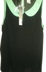 Other Top Black and Mint Green