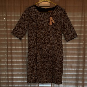 Banana Republic Petite Sheath Leopard Print Dress
