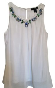 White House | Black Market Embellished Top White