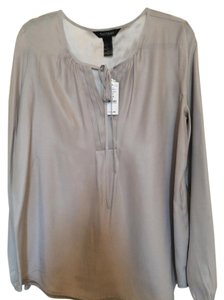 White House | Black Market Silk Top Gray