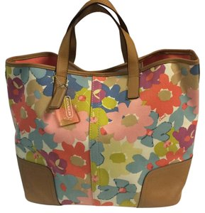 Coach Tote in Pink Purple Blue