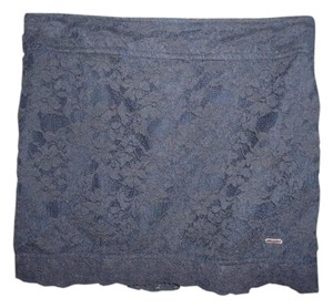 Hollister Abercrombie & Fitch Lace Mini Skirt Navy Blue