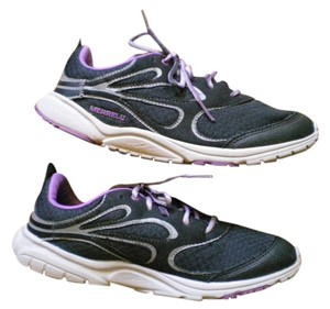 Merrell Vibram Soles Water Resistant Lightweight black with gray and lavender trim Athletic