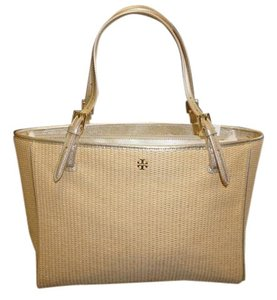 Tory Burch Large Summer Carry Tote in Straw / Silver
