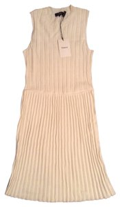 Theory short dress Off White Knit Pleated on Tradesy