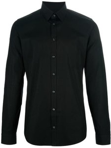 Gucci Men's Shirt Shirt Button Down Shirt Black