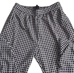 Bobeau Baggy Pants Black and white