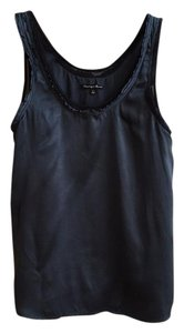 Broadway & Broome Madewell Silk Tank Crepe Top Navy