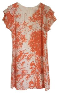 Rachel Zoe short dress White, orange, tangerine on Tradesy