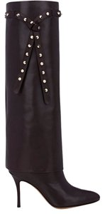 Valentino Leather Dark Brown Boots