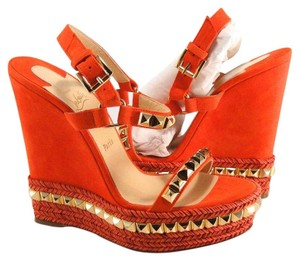 Christian Louboutin Cataclou orange Wedges