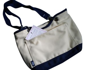 Other Thirty-one Thermal Diabetic Supplies Snacks Go Cute Alternative Tote in Natural Canvas / Navy