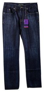 Robert Graham Indigo Wash Boot Cut Jeans-Dark Rinse