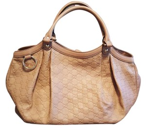 Gucci Large Rose Taupe Tote in Nude