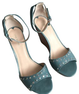 Via Spiga Turquoise and silver studs Wedges