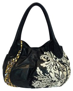 Isabella Fiore Camilla Rania Leather Tote in Black