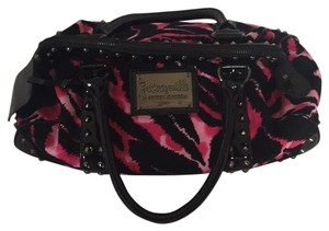 Betseyville by Betsey Johnson Satchel in Pink And Black