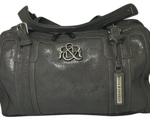Rock & Republic Satchel in Gray/Purple