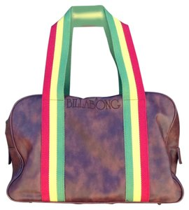 Billabong Satchel in Brown, Red, Yellow, Green