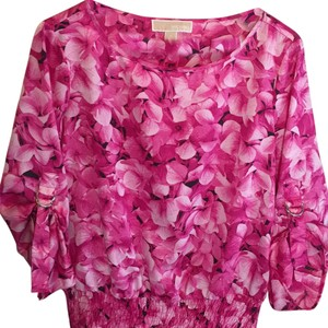 MICHAEL Michael Kors Top Pink with silver hardware