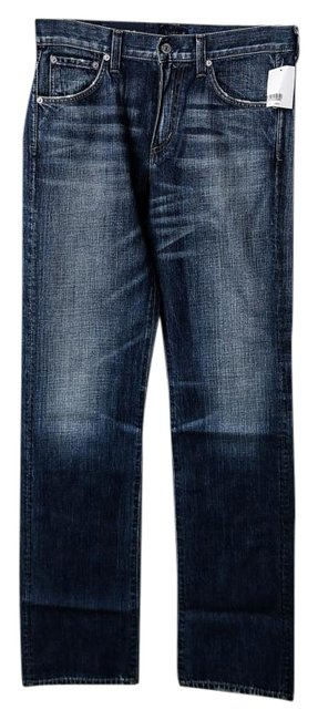 Citizens of Humanity Duvall Blue Dark Rinse 'sid' Classic Straight Leg Jeans Size 30 (6, M) Citizens of Humanity Duvall Blue Dark Rinse 'sid' Classic Straight Leg Jeans Size 30 (6, M) Image 1
