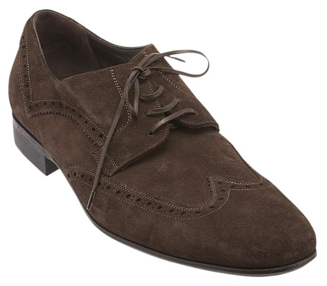 Item - Brown Mens Suede Flats (95916) Formal Shoes Size US 11