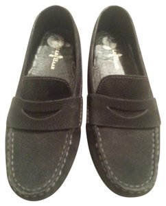 Cole Haan Suede Loafers Driving Drivers Black Flats