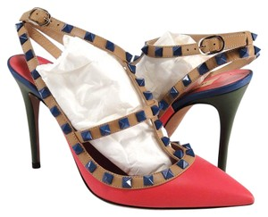 Valentino Rockstud Cage Block multi color Pumps