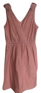 Banana Republic short dress Pink Cotton Silk V-neck Sleeveless on Tradesy